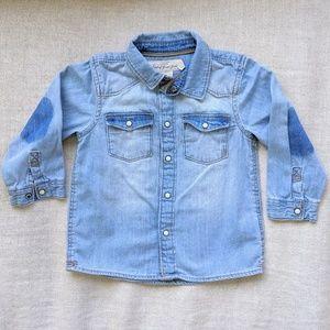 H&M Baby Denim Button Down Long-Sleeve